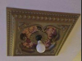 Ornamen Lampu plafon PVC