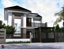 Rumah minimalist bertingkat