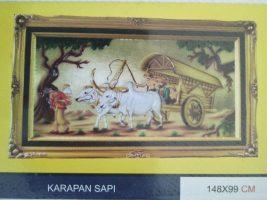 Lukisan Relive karapan sapi