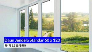 Daun jendela aluminium standar