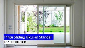 Pintu aluminium Sliding Ukuran standar