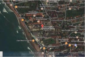 Peta lokasi hotel indigo